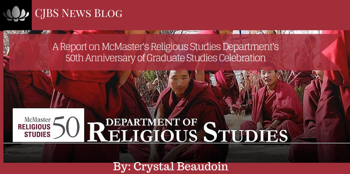 A Report on McMaster's Religious Studies Department's 50th ...
