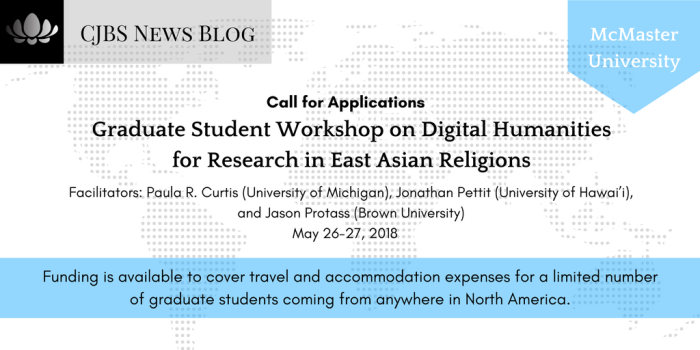 Graduate Student Workshop on Digital Humanities for Research in East Asian Religions