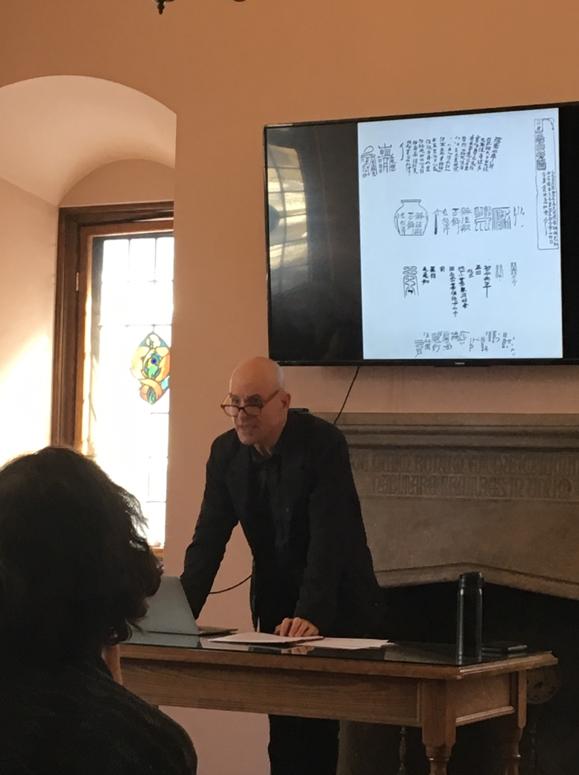 Prof. Robson talking about talismanic writing (Photo courtesy of Jingjing LI)