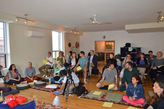 Participants and U of T students at the dhāraṇī event generously co-hosted by The Institute for Traditional Medicine.