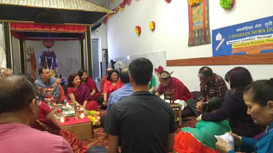 Professor Bajracharya presiding over and commenting on the Tārā Maṇḍala Pūjā at the Pashupatinath Mandir of Brampton.