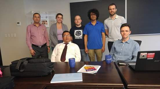 Professor Bajracharya with participants after his lecture on the Sanskrit Gurumaṇḍalārcanapūjā at the Jackman Humanities Building, University of Toronto.