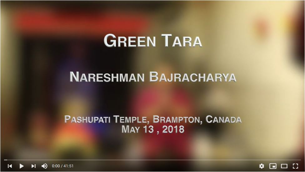 Green Tara -- Nareshman Bajracharya