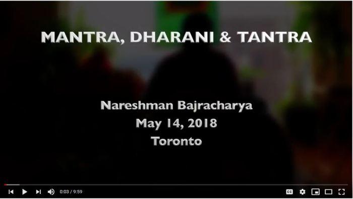 Mantra, Dharani, Tantra -- Nareshman Bajracharya