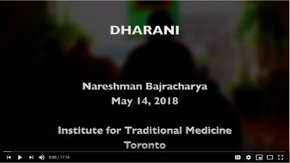 On Dharani -- Nareshman Bajracharya