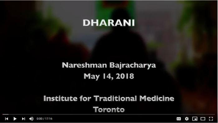 On Dharani -- Nareshman Bajracharya
