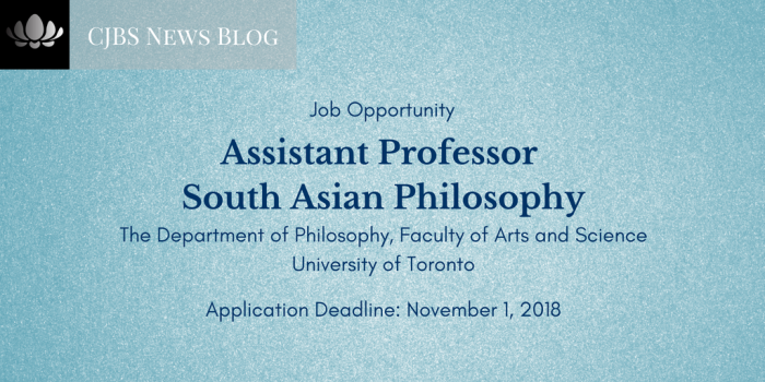 Assistant Professor - South Asian Philosophy