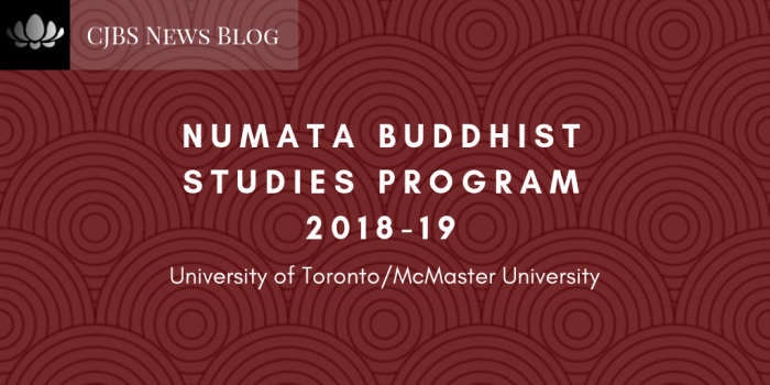 NUMATA BUDDHIST STUDIES PROGRAM 2018-19