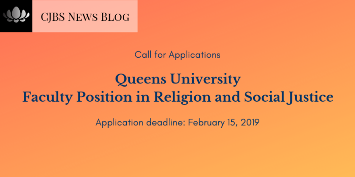Queens University_ Faculty Position in Religion and Social Justice