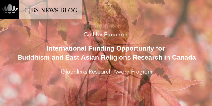 International Funding Opportunity for Buddhism and East Asian Religions Research in Canada